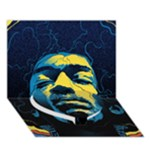 Gabz Jimi Hendrix Voodoo Child Poster Release From Dark Hall Mansion Heart Bottom 3D Greeting Card (7x5)