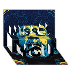 Gabz Jimi Hendrix Voodoo Child Poster Release From Dark Hall Mansion Miss You 3d Greeting Card (7x5) by Onesevenart