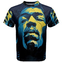 Gabz Jimi Hendrix Voodoo Child Poster Release From Dark Hall Mansion Men s Cotton Tee by Onesevenart