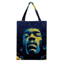 Gabz Jimi Hendrix Voodoo Child Poster Release From Dark Hall Mansion Classic Tote Bag by Onesevenart