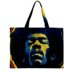 Gabz Jimi Hendrix Voodoo Child Poster Release From Dark Hall Mansion Zipper Mini Tote Bag
