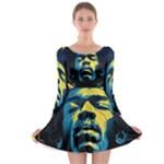 Gabz Jimi Hendrix Voodoo Child Poster Release From Dark Hall Mansion Long Sleeve Skater Dress