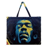 Gabz Jimi Hendrix Voodoo Child Poster Release From Dark Hall Mansion Zipper Large Tote Bag