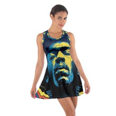 Gabz Jimi Hendrix Voodoo Child Poster Release From Dark Hall Mansion Cotton Racerback Dress by Onesevenart