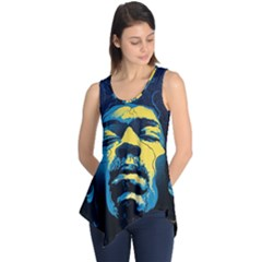 Gabz Jimi Hendrix Voodoo Child Poster Release From Dark Hall Mansion Sleeveless Tunic by Onesevenart