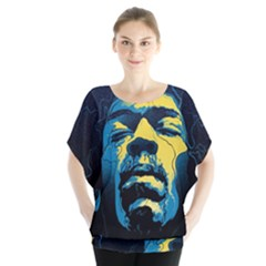 Gabz Jimi Hendrix Voodoo Child Poster Release From Dark Hall Mansion Blouse by Onesevenart