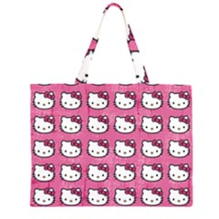 Hello Kitty Patterns Large Tote Bag by Onesevenart