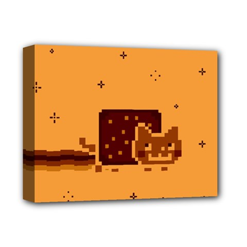 Nyan Cat Vintage Deluxe Canvas 14  X 11  by Onesevenart