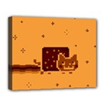 Nyan Cat Vintage Deluxe Canvas 20  x 16