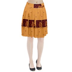 Nyan Cat Vintage Pleated Skirt by Onesevenart