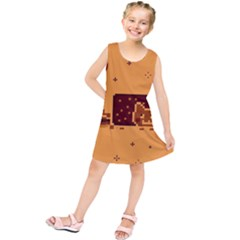Nyan Cat Vintage Kids  Tunic Dress by Onesevenart