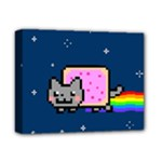 Nyan Cat Deluxe Canvas 14  x 11