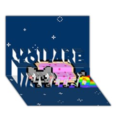 Nyan Cat You Are Invited 3d Greeting Card (7x5) by Onesevenart