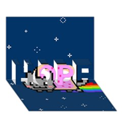 Nyan Cat Hope 3d Greeting Card (7x5) by Onesevenart