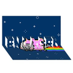Nyan Cat Engaged 3d Greeting Card (8x4) by Onesevenart