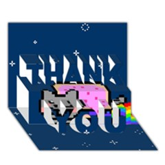 Nyan Cat Thank You 3d Greeting Card (7x5) by Onesevenart