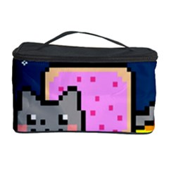 Nyan Cat Cosmetic Storage Case by Onesevenart