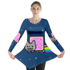 Nyan Cat Long Sleeve Tunic  by Onesevenart