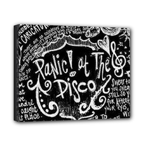Panic ! At The Disco Lyric Quotes Canvas 10  X 8  by Onesevenart
