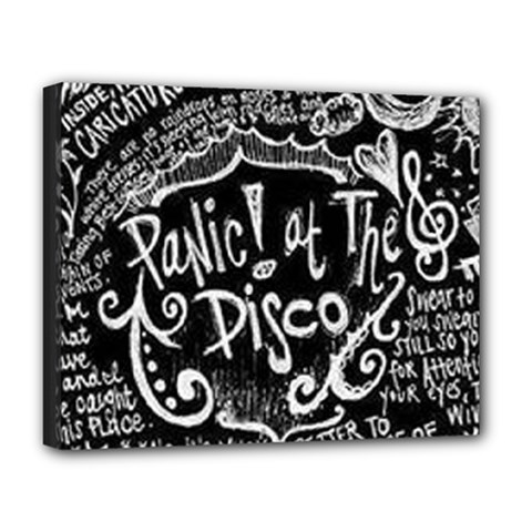 Panic ! At The Disco Lyric Quotes Deluxe Canvas 20  X 16   by Onesevenart
