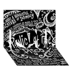 Panic ! At The Disco Lyric Quotes I Love You 3d Greeting Card (7x5) by Onesevenart