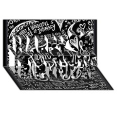 Panic ! At The Disco Lyric Quotes Happy Birthday 3d Greeting Card (8x4) by Onesevenart