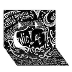 Panic ! At The Disco Lyric Quotes Heart 3d Greeting Card (7x5) by Onesevenart