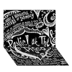 Panic ! At The Disco Lyric Quotes Heart Bottom 3d Greeting Card (7x5) by Onesevenart
