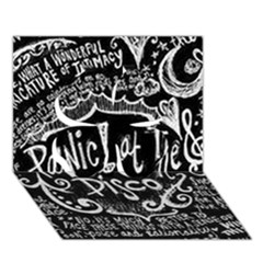 Panic ! At The Disco Lyric Quotes Clover 3d Greeting Card (7x5) by Onesevenart