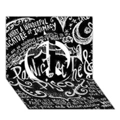 Panic ! At The Disco Lyric Quotes Peace Sign 3d Greeting Card (7x5) by Onesevenart