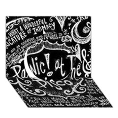 Panic ! At The Disco Lyric Quotes Circle 3d Greeting Card (7x5) by Onesevenart