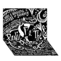 Panic ! At The Disco Lyric Quotes Ribbon 3d Greeting Card (7x5) by Onesevenart