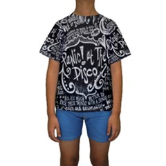 Panic ! At The Disco Lyric Quotes Kids  Short Sleeve Swimwear by Onesevenart