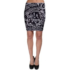 Panic ! At The Disco Lyric Quotes Bodycon Skirt by Onesevenart