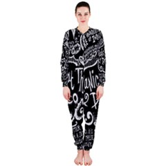 Panic ! At The Disco Lyric Quotes Onepiece Jumpsuit (ladies)  by Onesevenart