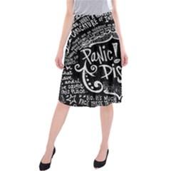 Panic ! At The Disco Lyric Quotes Midi Beach Skirt by Onesevenart