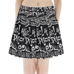Panic ! At The Disco Lyric Quotes Pleated Mini Skirt by Onesevenart