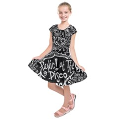 Panic ! At The Disco Lyric Quotes Kids  Short Sleeve Dress by Onesevenart