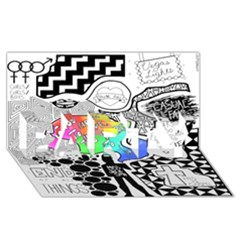 Panic ! At The Disco Party 3d Greeting Card (8x4) by Onesevenart