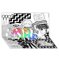 Panic ! At The Disco Sorry 3d Greeting Card (8x4) by Onesevenart
