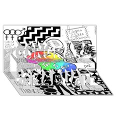 Panic ! At The Disco Congrats Graduate 3d Greeting Card (8x4) by Onesevenart