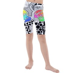 Panic ! At The Disco Kids  Mid Length Swim Shorts by Onesevenart