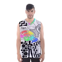 Panic ! At The Disco Men s Basketball Tank Top by Onesevenart