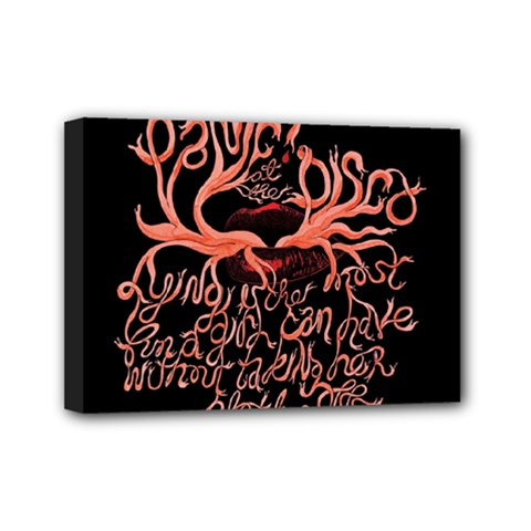 Panic At The Disco   Lying Is The Most Fun A Girl Have Without Taking Her Clothes Mini Canvas 7  X 5  by Onesevenart
