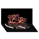 Panic At The Disco   Lying Is The Most Fun A Girl Have Without Taking Her Clothes Twin Heart Bottom 3D Greeting Card (8x4)