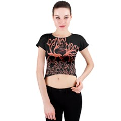 Panic At The Disco   Lying Is The Most Fun A Girl Have Without Taking Her Clothes Crew Neck Crop Top by Onesevenart