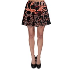 Panic At The Disco   Lying Is The Most Fun A Girl Have Without Taking Her Clothes Skater Skirt by Onesevenart