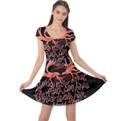 Panic At The Disco   Lying Is The Most Fun A Girl Have Without Taking Her Clothes Cap Sleeve Dresses by Onesevenart