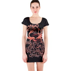 Panic At The Disco   Lying Is The Most Fun A Girl Have Without Taking Her Clothes Short Sleeve Bodycon Dress by Onesevenart