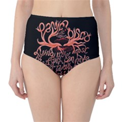Panic At The Disco   Lying Is The Most Fun A Girl Have Without Taking Her Clothes High Waist Bikini Bottoms by Onesevenart
